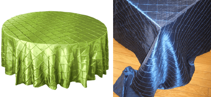 """PINTUCK 1"""" SQUARE round tablecloths"""