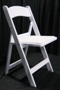 Resin chair with padded seat Folding
