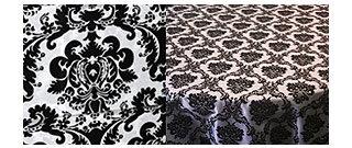 black-white-tablecloth