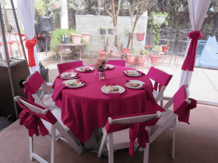 """SQUARE tablecloths for a 48"""" square table"""
