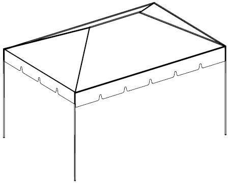 10x15 Tent. Architecture perspective
