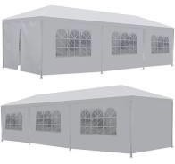 10×40 Event Tent. From and back on white background.