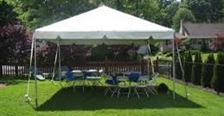 15x70 Tent set on grass