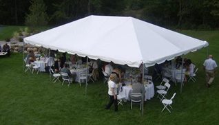 Event Tent Aerial View