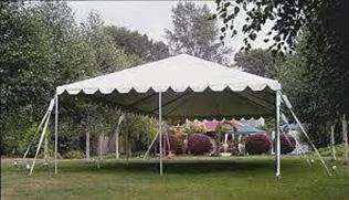 20x40 tent set up on grass
