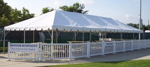 Event Tent Set up at Event