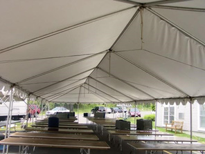 Event tent from underneath